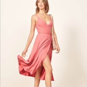 """""""Vicky"""" Wrap Dress, Reformation Jeans Collection."""